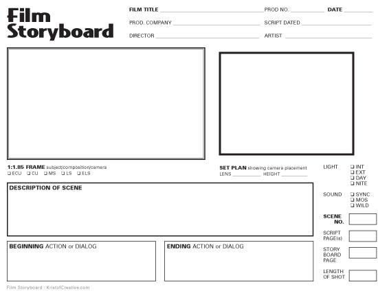 film storyboard template word - storyboard blah blah